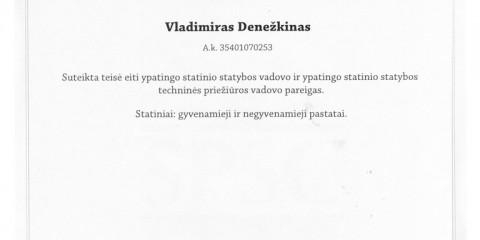 V. Denežkino SDV ir STPV atestatas