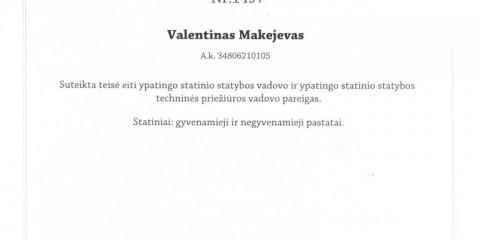 V. Makejevo SDV ir STPV atestatas